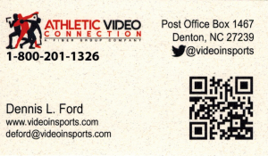 Athletic Video Connection business card